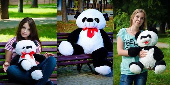 Большие плюшевые панды
