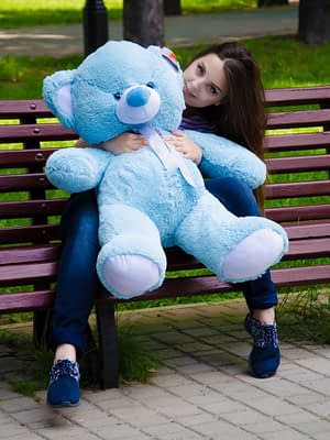 Медведь Томми 100 см Голубой