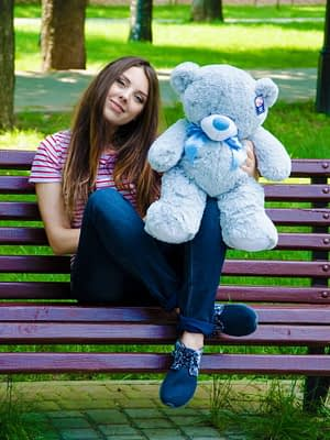 Медведь Бойд 70 см Серый