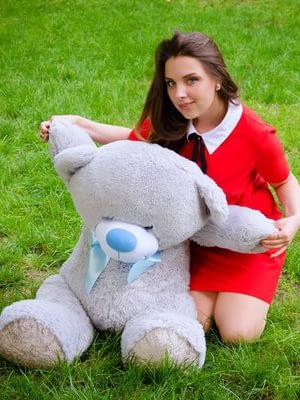 Медведь Бойд 125 см Серый