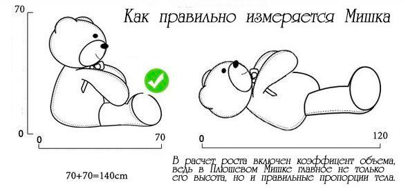 Как измерять мишку - coolbear.com.ua