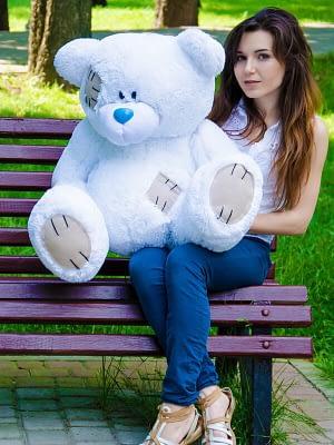 Медведь Потап 90 см белый