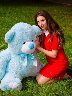 Медведь Ветли 130 см Голубой